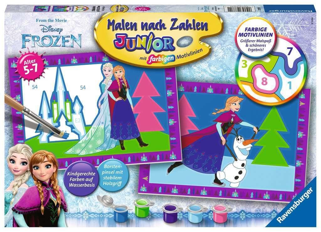 Ravensburger 277711 Malen Nach Zahlen Junoir Disney Die Eiskonigin